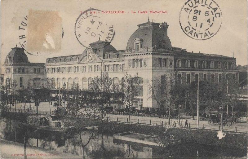 Toulouse La Gare Matabiau A Toulouse Gare Toulouse Cartes
