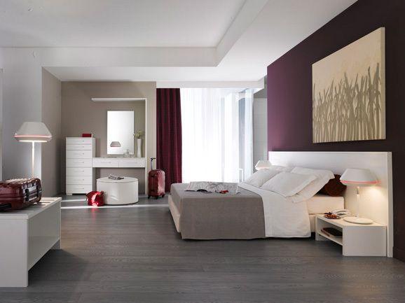 Camera da letto moderna. Modern bedroom. Composizione camera moderna ...