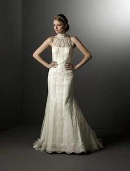 Affordable And Unique Lace Wedding Dresses From Kleinfeld Bridal Wedding Dresses High Neck Lace Wedding Dress Wedding Dresses Kleinfeld