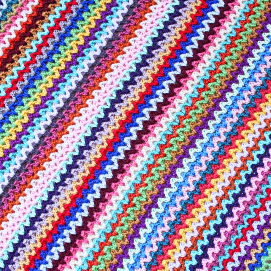 v stitch blanket | Crochet | Pinterest