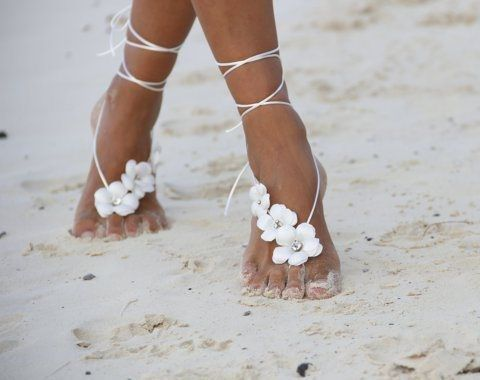 Beach weddings are always in trend because they are very romantic