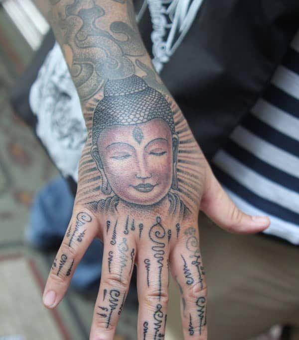 Buddha Tattoo Tribal Hand Tattoos Bhuddist Tattoos Hand Tattoos