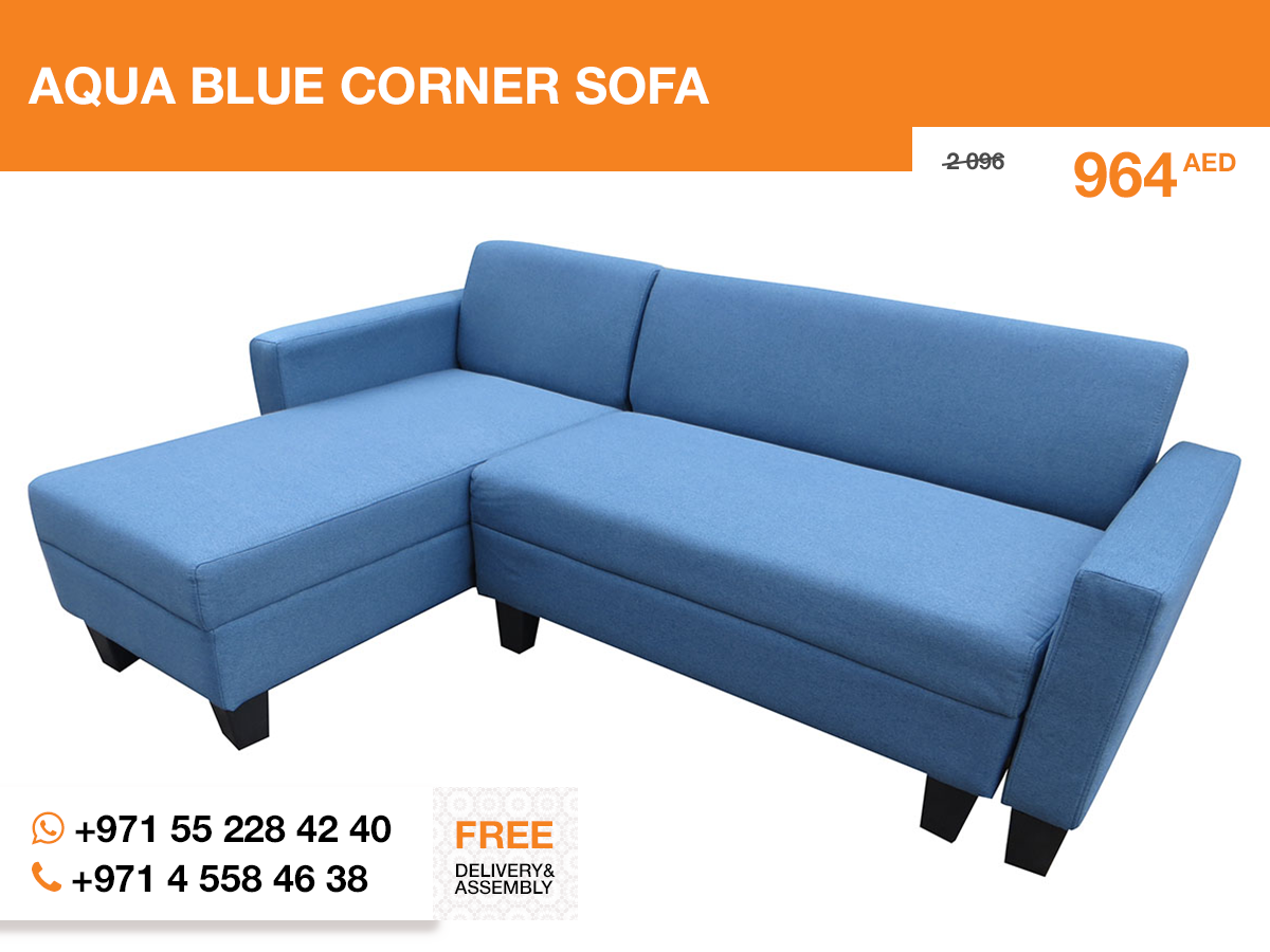 The Aqua Blue Corner Sofa Is Needed In Any Living Room Which Can Be Called