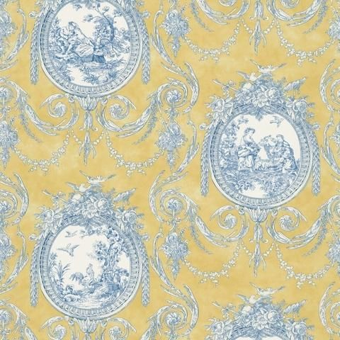 Vignette Toile Wallpaper - BC1580279 from Design by Color ...