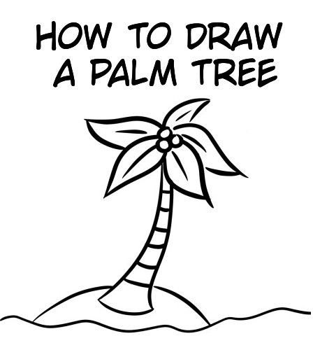How To Draw Palm Trees: Easy Step By Step Tutorial For ...