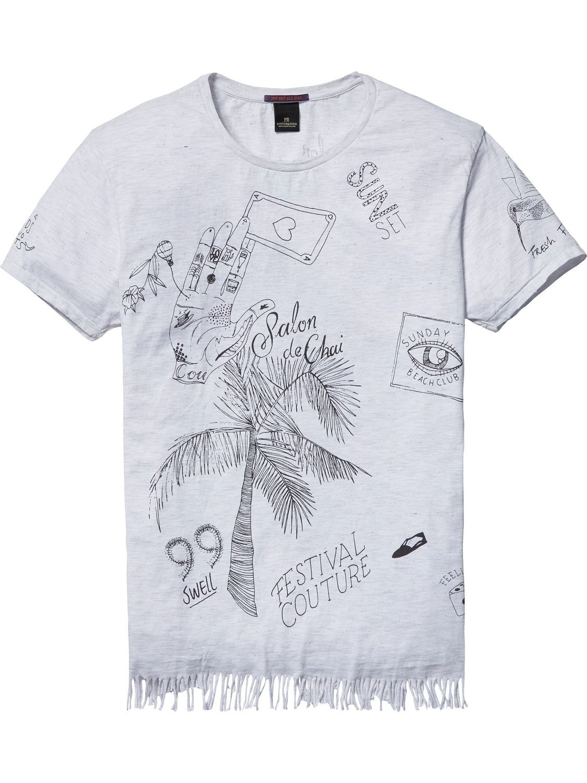 Camiseta festivalera deshilachada