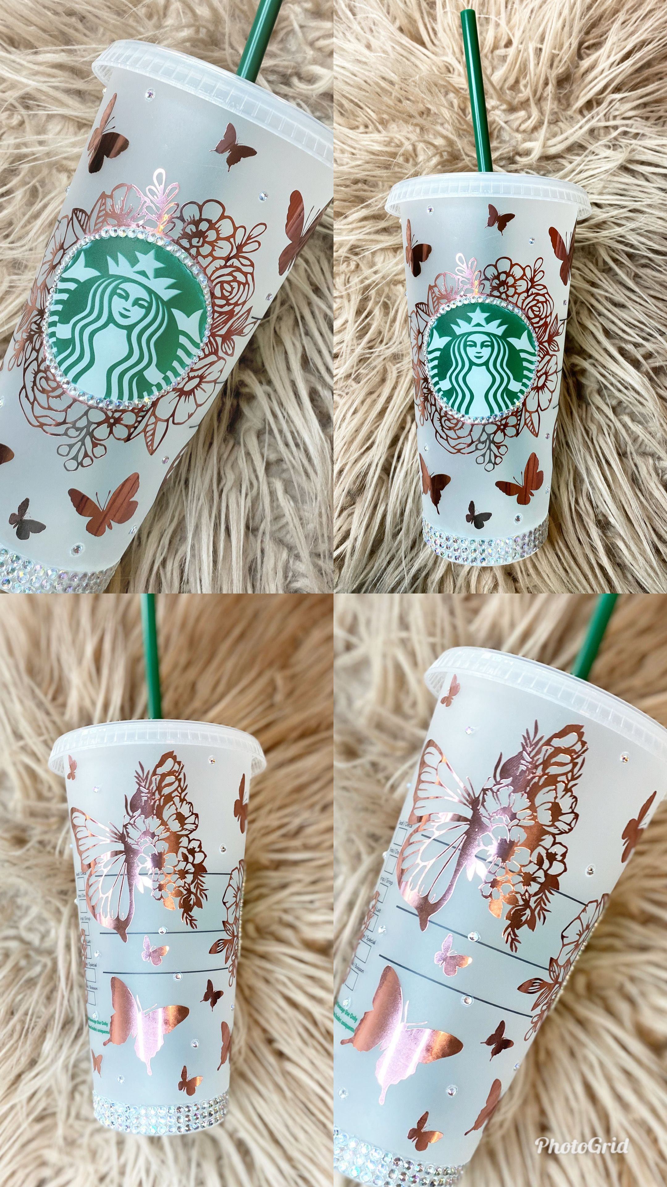 Personalized Rose Gold Starbucks tumbler