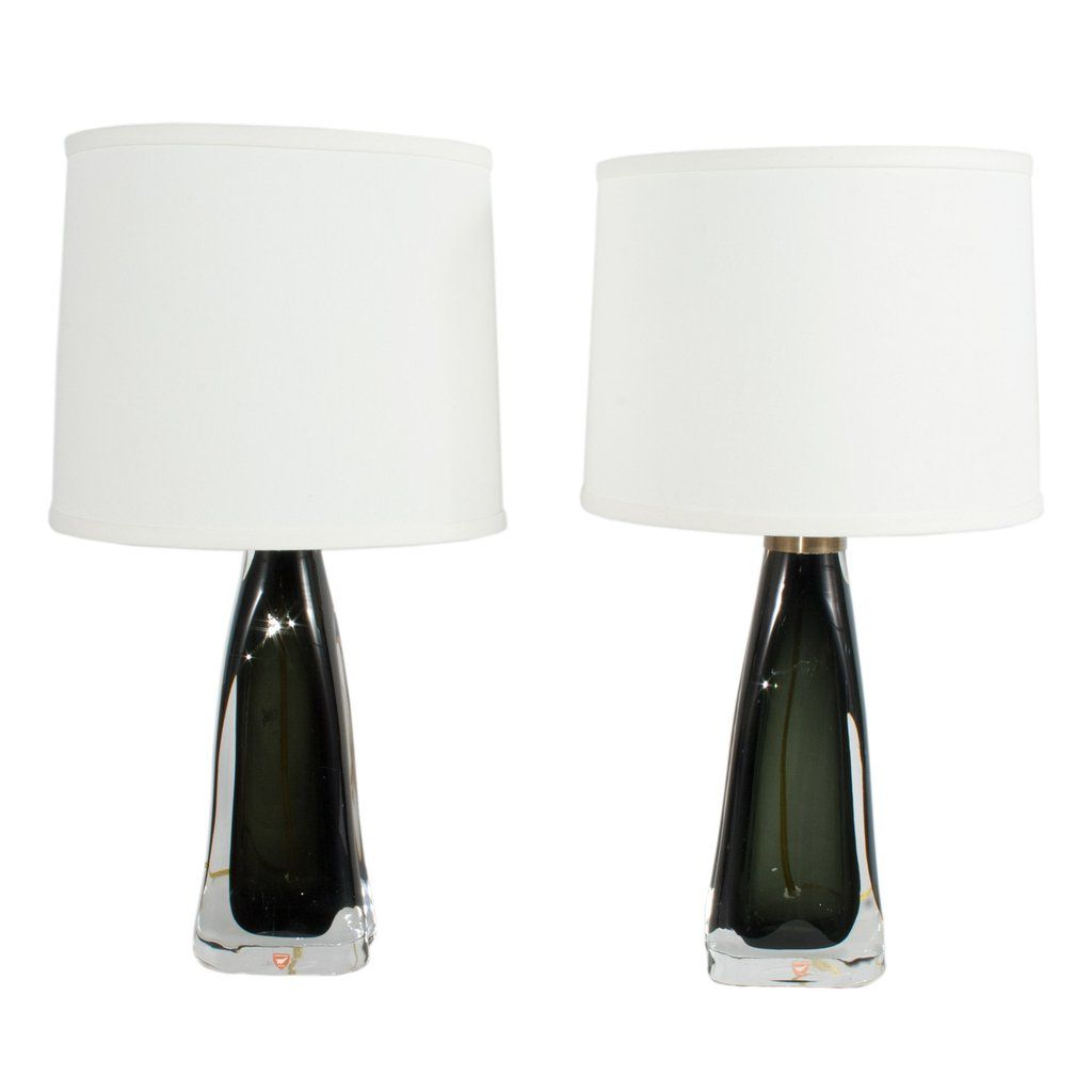 633 Pair Of Olive Green Table Lamps By Carl Fagerlund Green Table