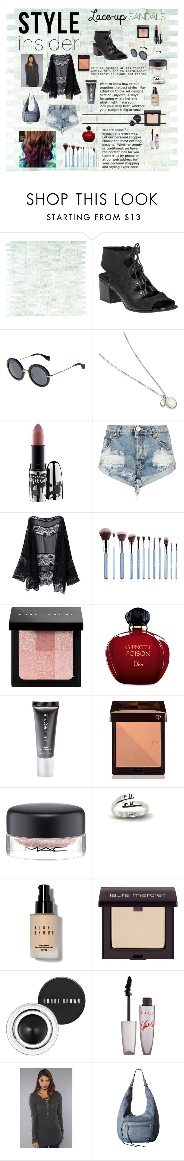 """""""Lace up sandals #polyvorecontest #laceupsandals #styleinsider"""" by izzy-wylde on Polyvore featuring 275 Central, Miu Miu, MAC Cosmetics, One Teaspoon, Bobbi Brown Cosmetics, Christian Dior, W3LL People, Clé de Peau Beauté, Laura Mercier and Rimmel"""