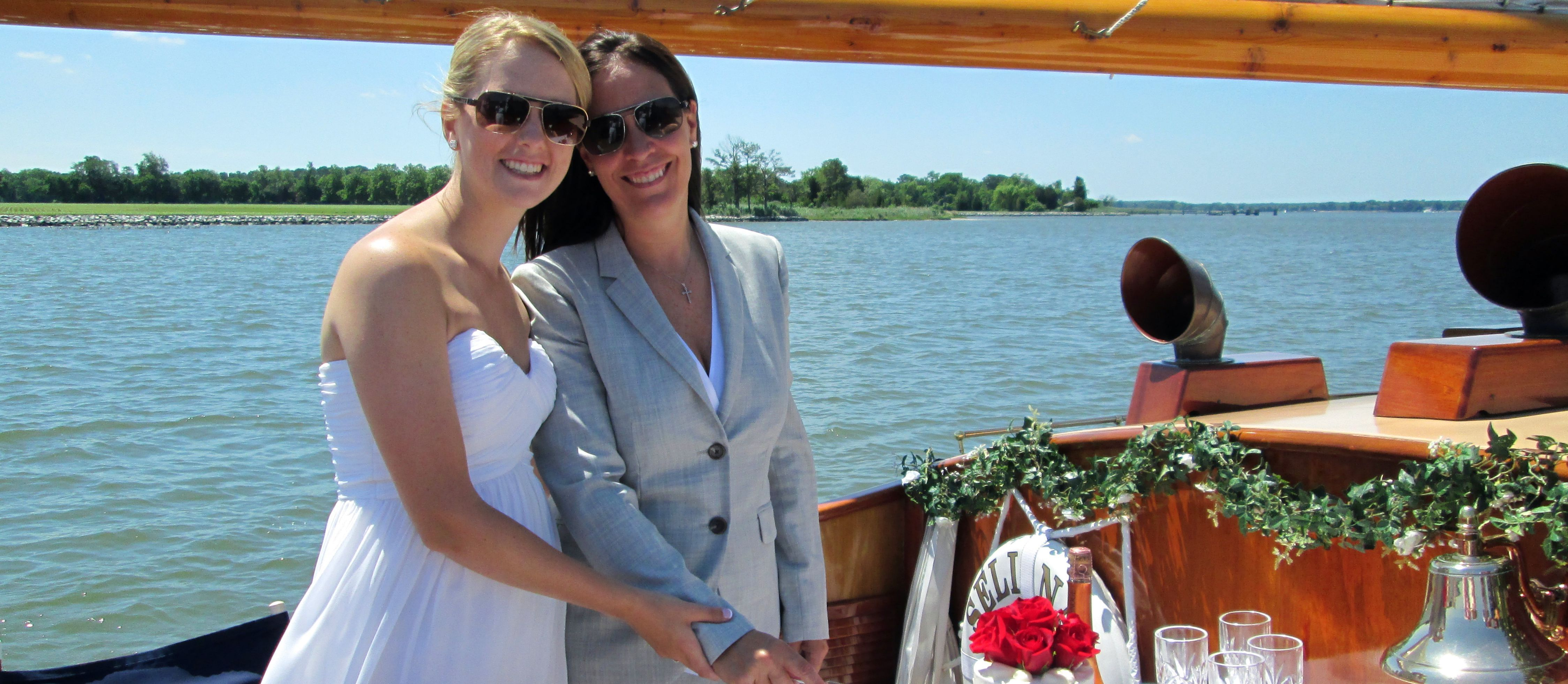 Bay chesapeake lesbian wedding
