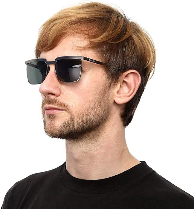 98eedfcc81 LORSEX Classic Wayfarer Sunglasses for Men 100% UV 400 Protection Sports  Driving Fishing Eyeglasses Shades