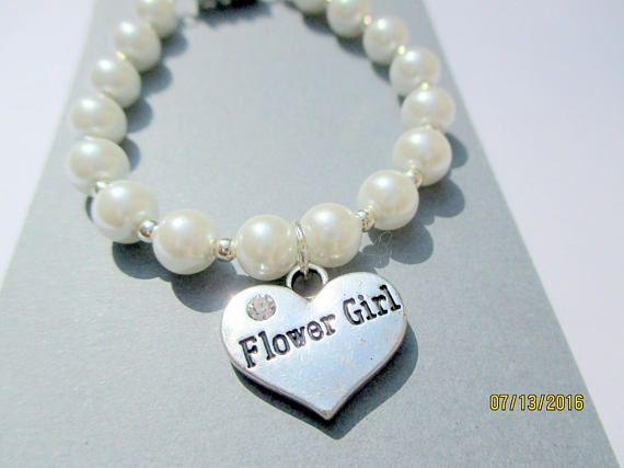 Sterling SilverToddlers Flower Girl Bracelet GiftLittle girls