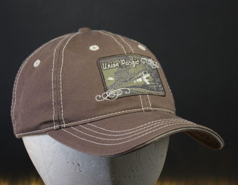 9bf615618 Union Pacific Hat Cap Strapback Brown Dad Patch Rail Road Train #BDA ...