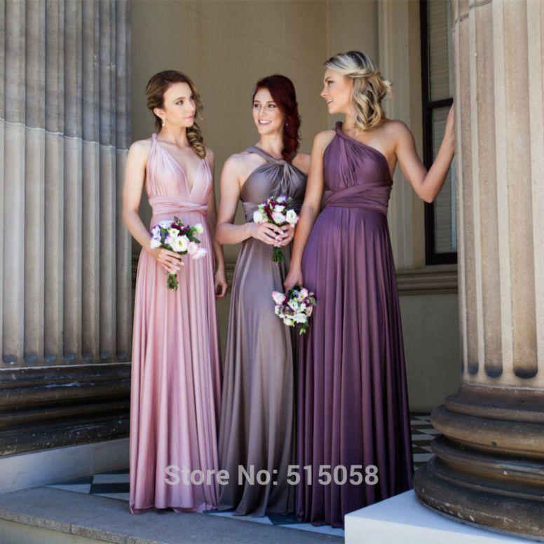 Silver Purple Wedding Bridesmaid Dresses Plum Bridesmaid Dresses