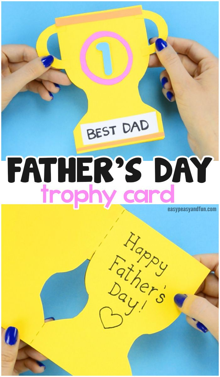 Father's Day Trophy Card - With Printable Trophy Template #father