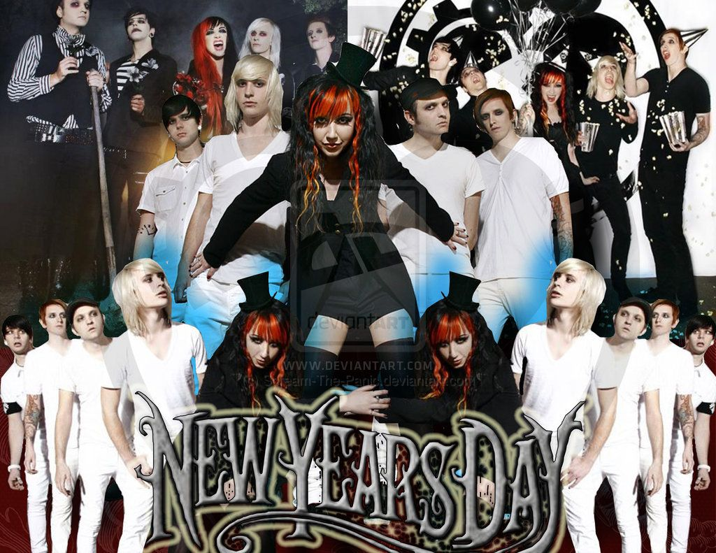 New Years Day Band By Scream The Panic On Deviantart New Years Day Band Band Wallpapers New Years Day