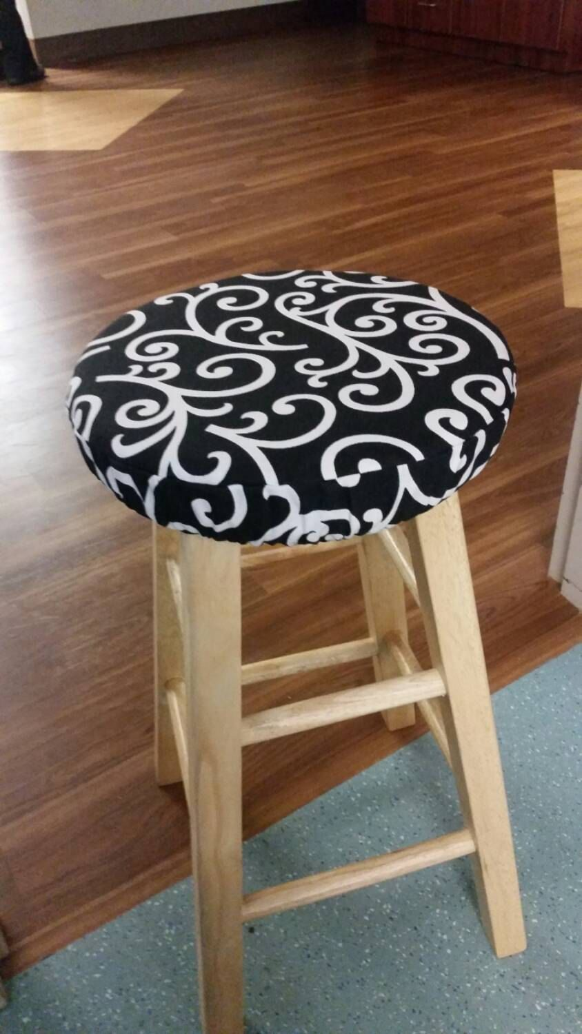 Round Padded Stool Cover Cushion With Elastic Reaproveitamento