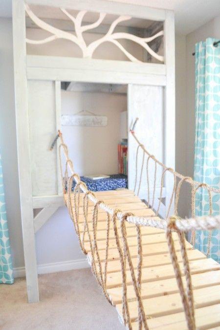 elevated reading nook playroom kids cabin playhouse indoor play