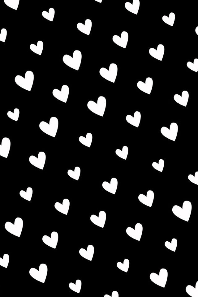 It S All About Hearts Black Wallpaper Black And White Heart Heart Wallpaper