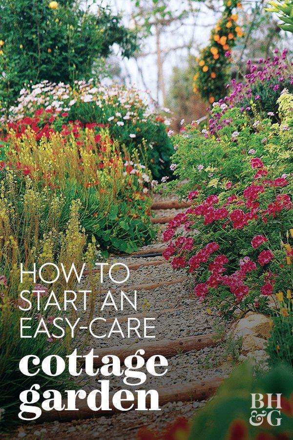 6 Steps To A No Work Cottage Garden Cottage Garden Garden Yard Ideas Garden Design