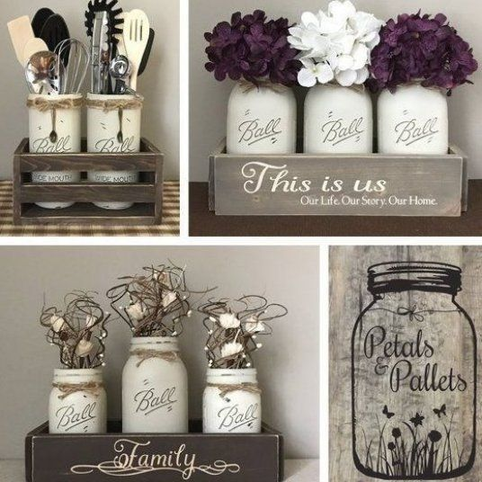 Rustic Fall Centerpiece For Dining Table Fall Farmhouse Etsy Easy Decorations Home Decor Mason Jar Centerpieces Fall Mason Jars Rustic Fall Centerpieces