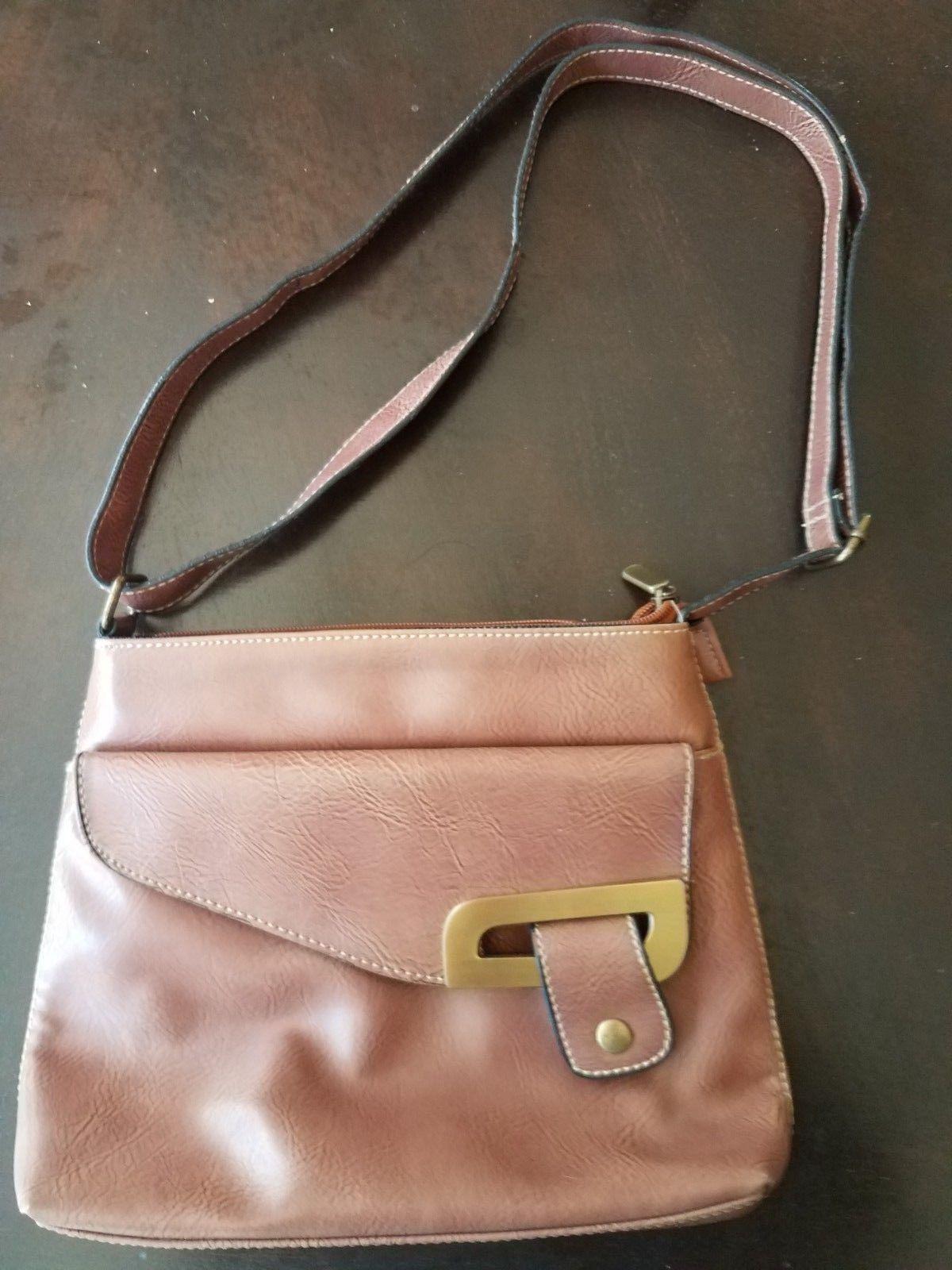 d0502e9e5da9 Vintage caramel leather David Jones collection crossbody bag ...