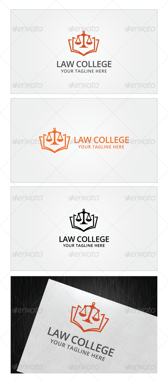 Law College Logo Template Re Sizable Vector EPS And Ai PSD 62504167 Color Customizable Fully Editable Free Font Used
