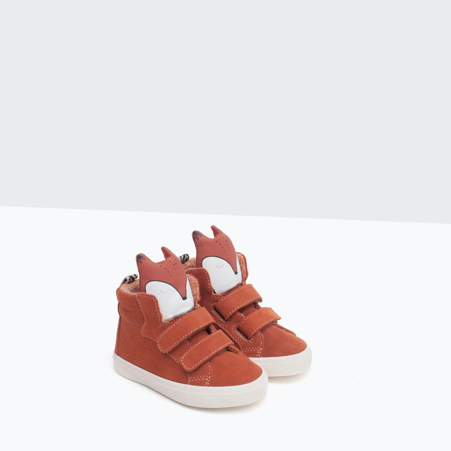 LEREN BASKETBALSCHOEN MET VOSSENPRINT - Schoenen - Baby meisje (3 - 36 maanden) - KINDEREN | ZARA Nederland