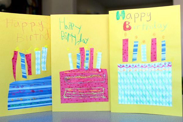 Homemade Cards For Kids To Make Homemade Birthday Cards Card Making Birthday Kids Birthday Cards