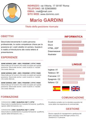 Cv Europeo Modelli Di Curriculum Vitae Gratis Con Immagini
