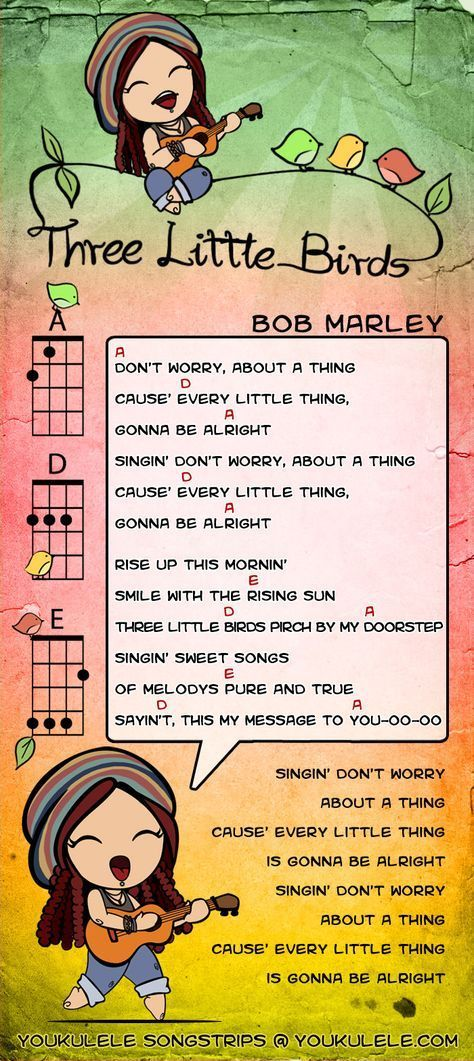 Three Little Birds Bob Marley Uke Chords Tips For Ukulele