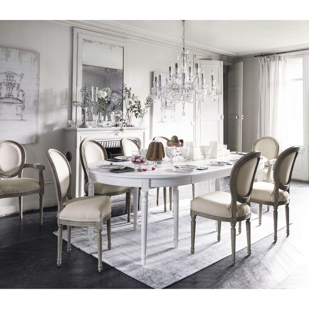 Lustre A Pampilles En Metal Chrome Maisons Du Monde Table A Manger Ronde Extensible Meuble Salle A Manger Table A Manger Ronde