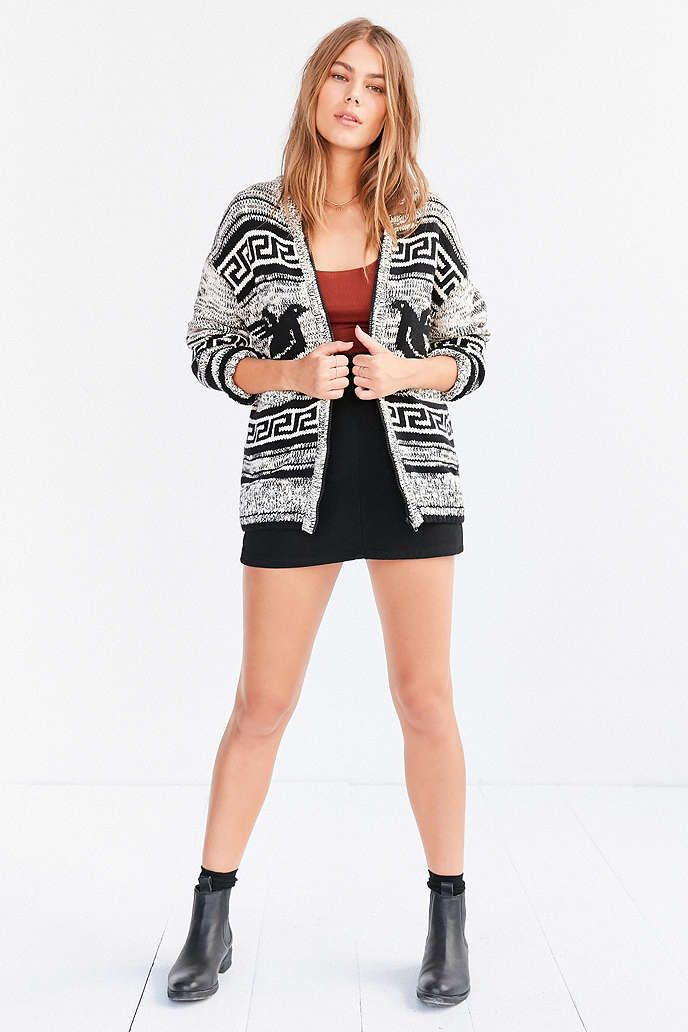 OBEY Eirine Zip-Up Cardigan Sweater - Urban Outfitters