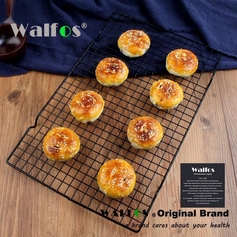 Walfos 2017 Cake Cool Cookies At West Chicken Bread Cooling Rack Black Non Stick Cold Air Net Kitchen Baking Food Fun Cookies