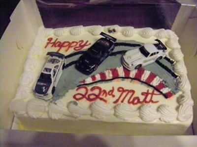 Birthday Cake With Cars Drifting My boyfriend really loves cars