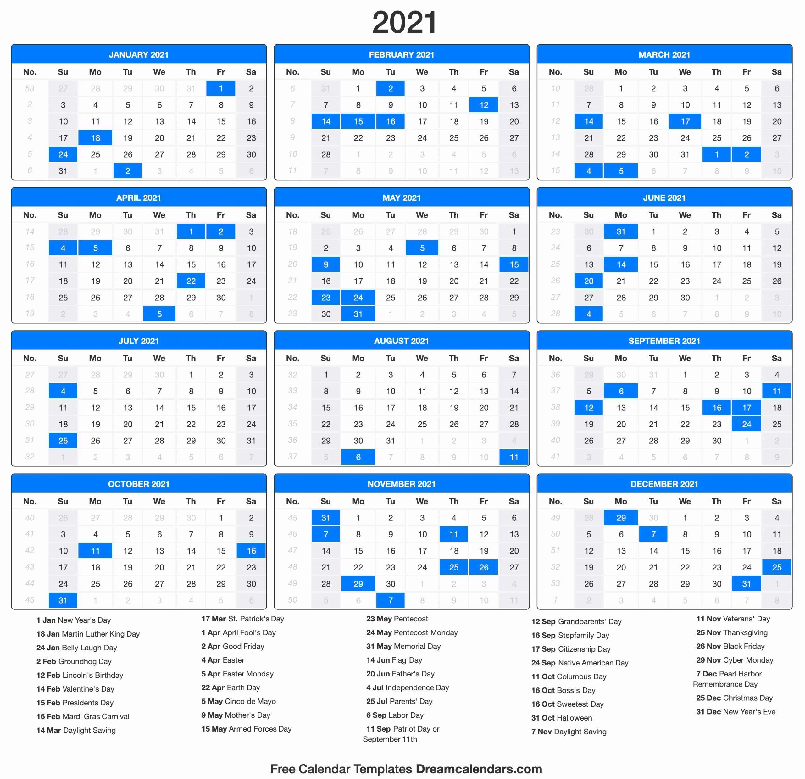 Printable Calendar 2021 In 2020 Printable Calendar Template Monthly Calendar Template Calendar Printables