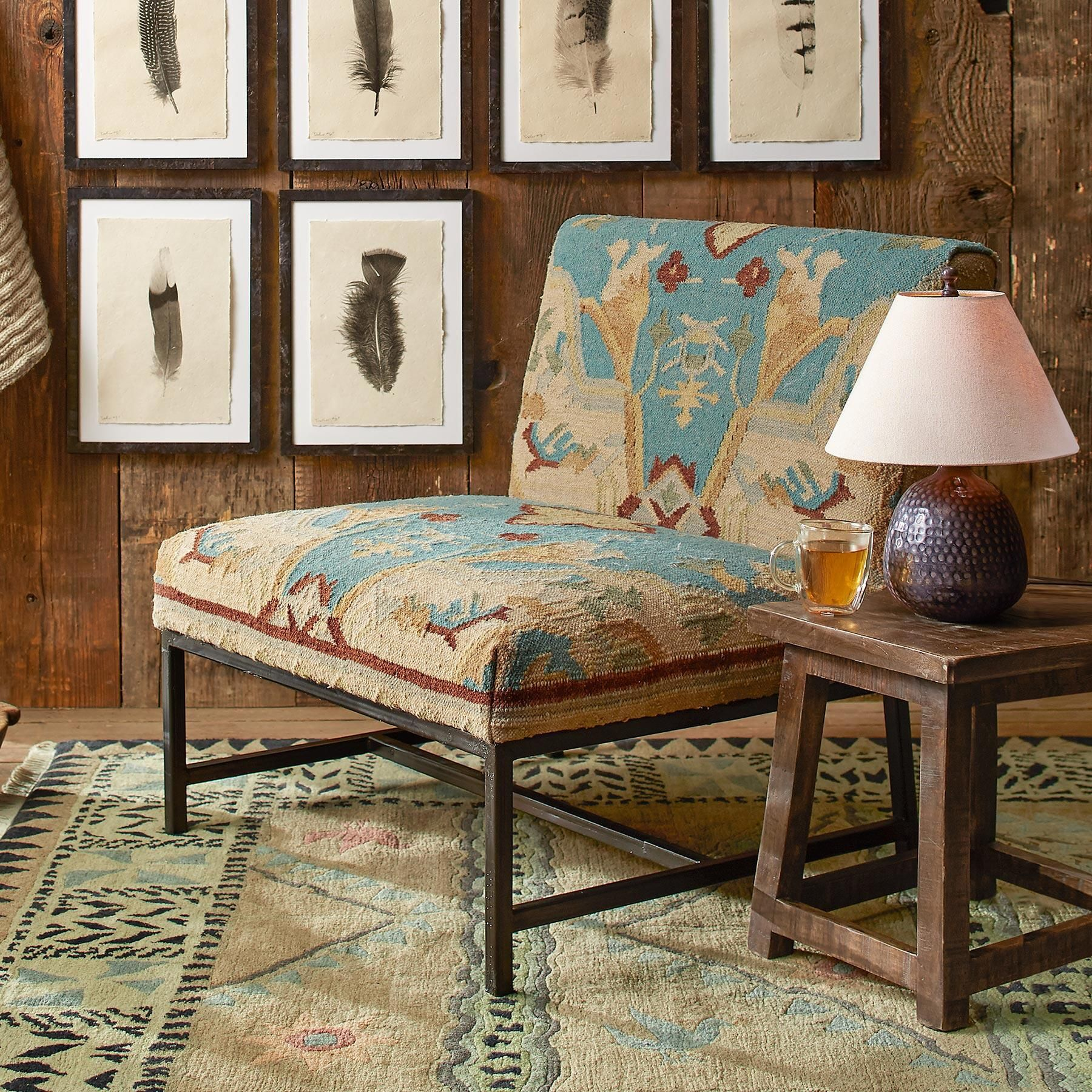 AZURA KILIM CHAIR fort and worldly style meet in the middle