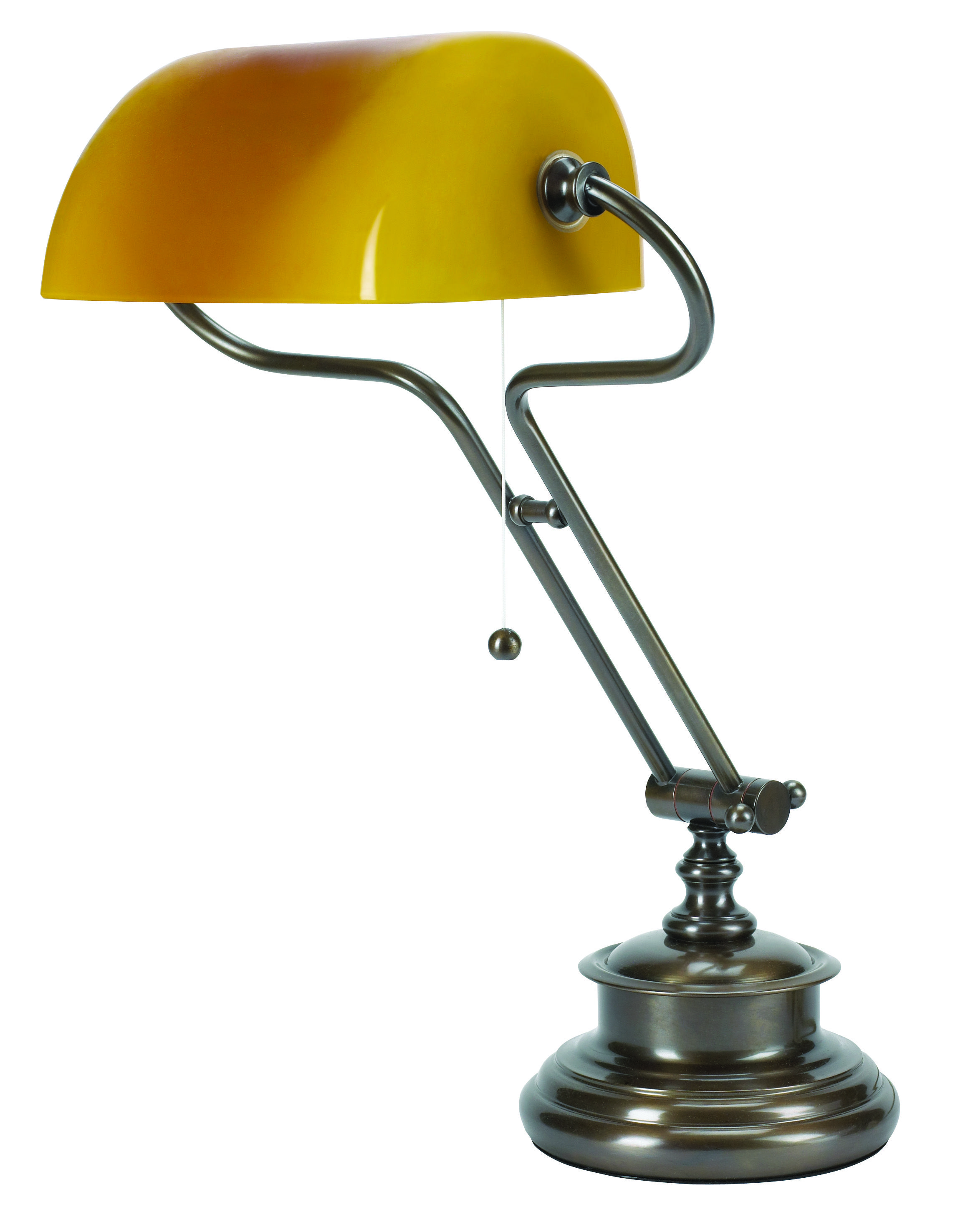 T2 015 Traditional Bankers Lamp With Yellow Shade Shown In A Bronze Finish Lamp Bankers Lamp Desk Lamps