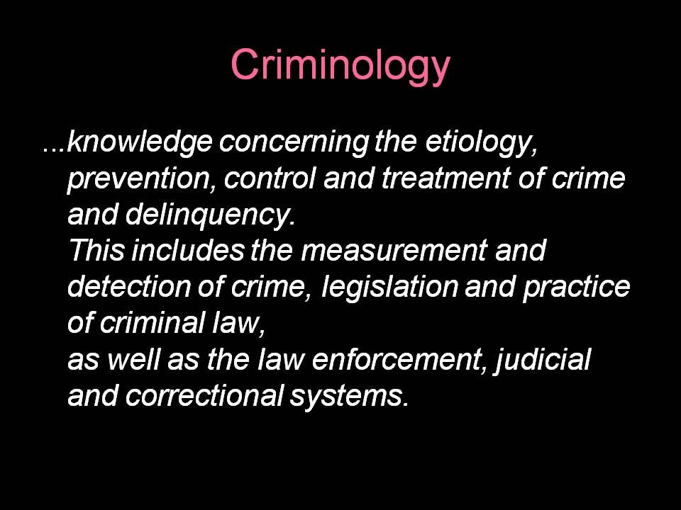 Criminology term papers