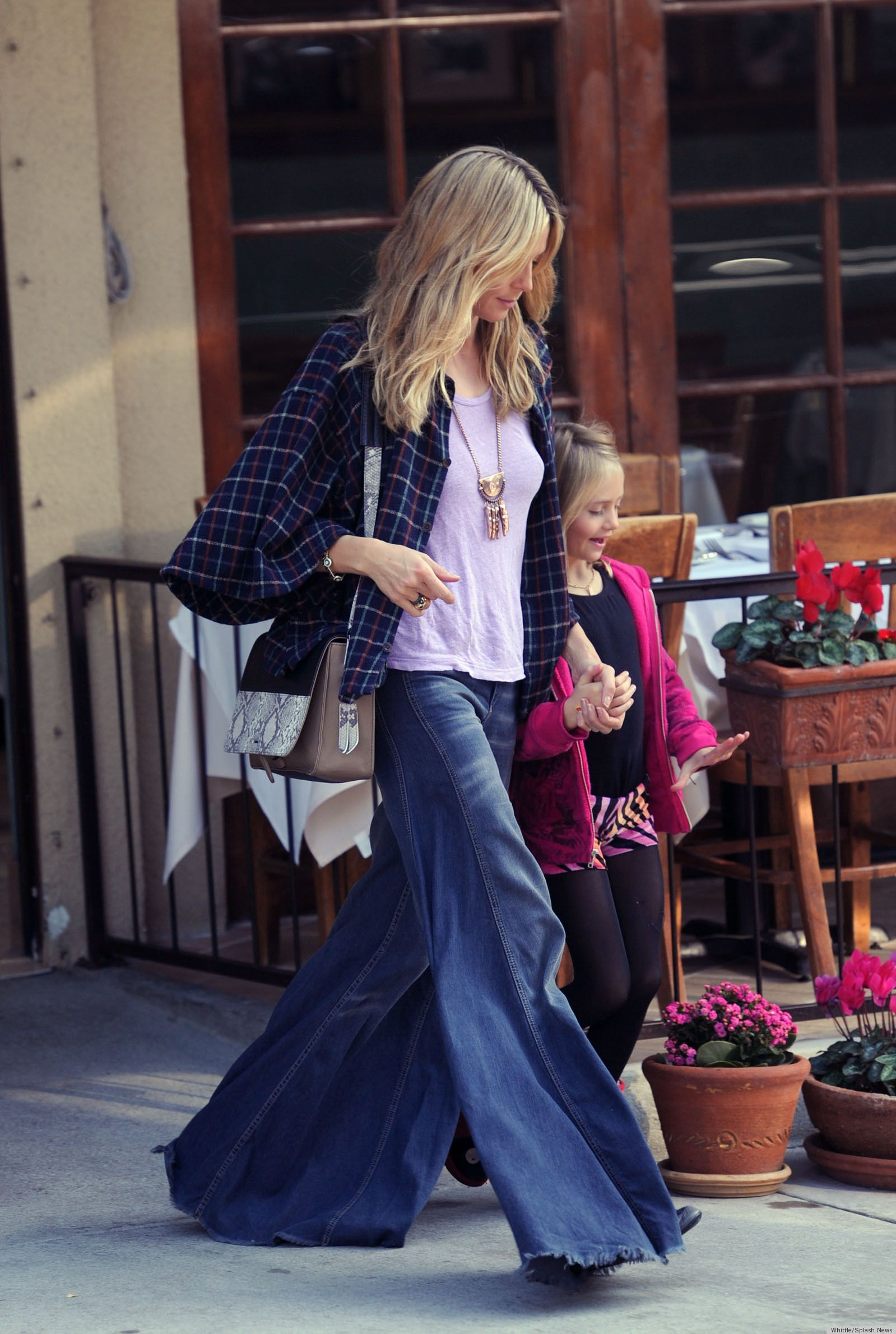PHOTO: Heidi Takes Flared Jeans To The Next Level | Bell bottoms ...