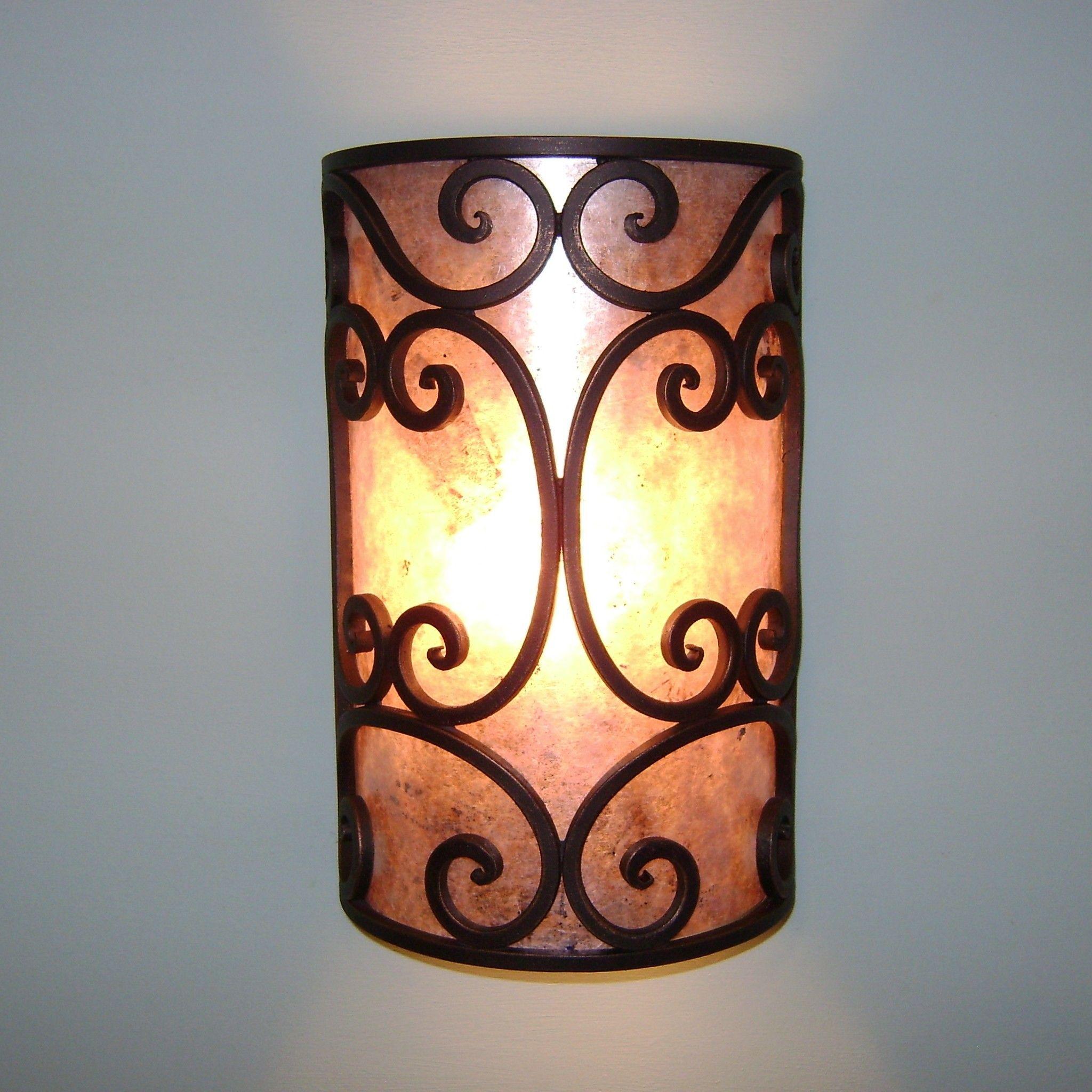 5300 2 Spanish Style Wrought Iron Wall Sconce Lamp Outdoor Exterior Wall Lighting Outdoor Exteri Decoracion Del Jardin Lamparas Rusticas Decoracion De Unas