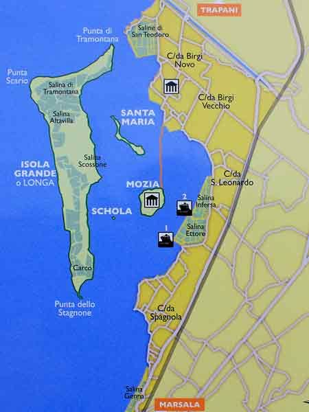 Mozia Nature Reserve map Sicily Sicilian Nature Pinterest