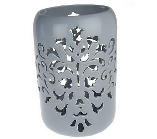cut-out Candle Holder | Bombay Damask 11 3/4 Cutout Candle Holder — QVC.com