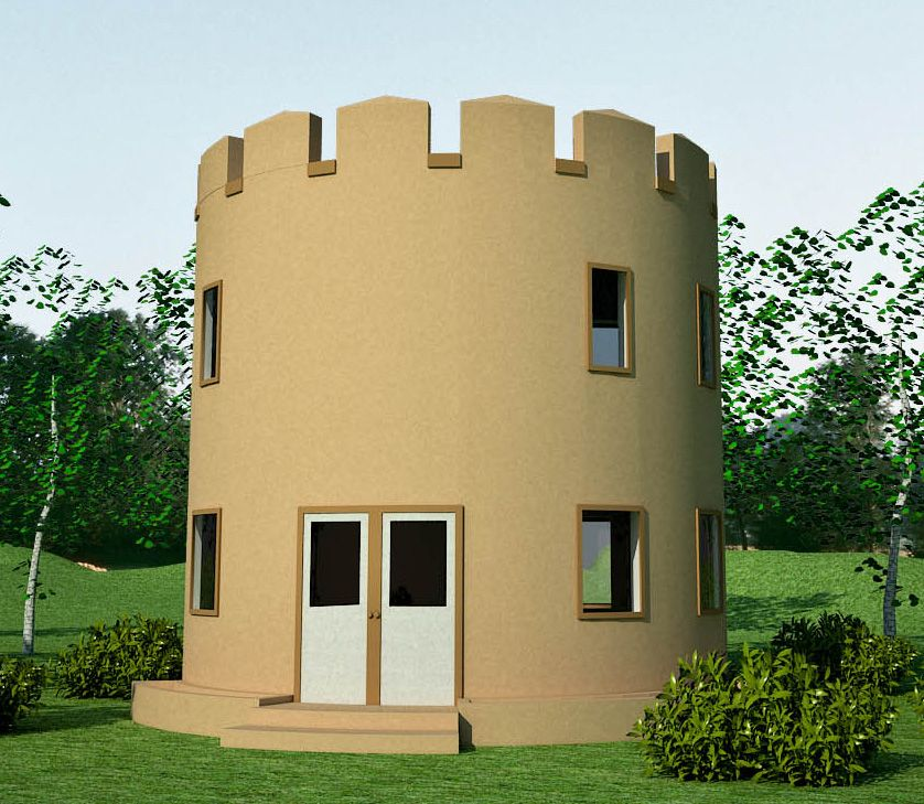 Round house tower plan from Earthbag house plans   Tiny Homes     Round house tower plan from Earthbag house plans