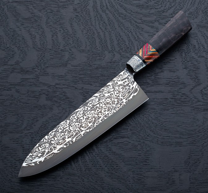 Logging Cable Damascus Chef 235mm Eatingtools Com Chef Knife Damascus Chef