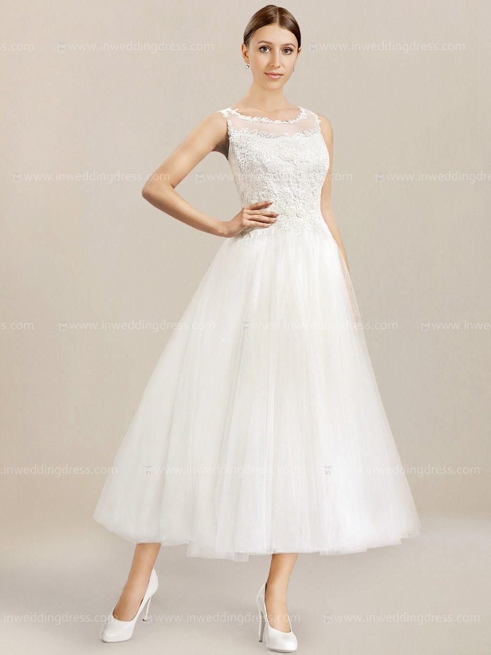 Informal tea length wedding dress te tea length wedding dress