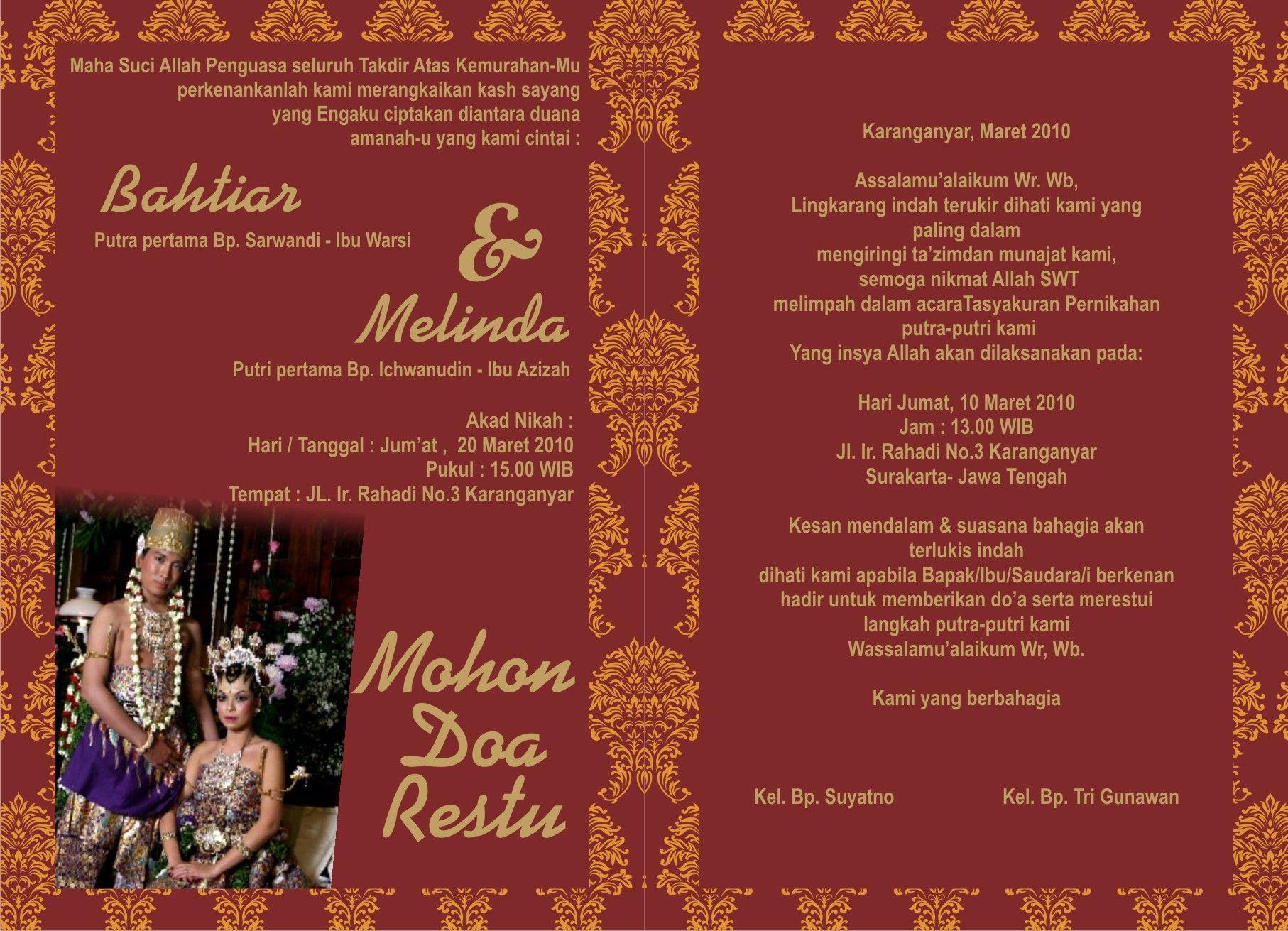 Template Undangan Pernikahan | undangan | Pinterest | Template