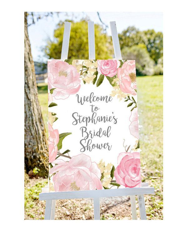 bridal shower welcome sign welcome to bridal shower sign pastel bridal shower sign floral bridal shower printable welcome