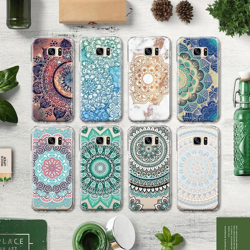 Mandala Cases For Samsung   Geometric iphone case, Mandala case ...