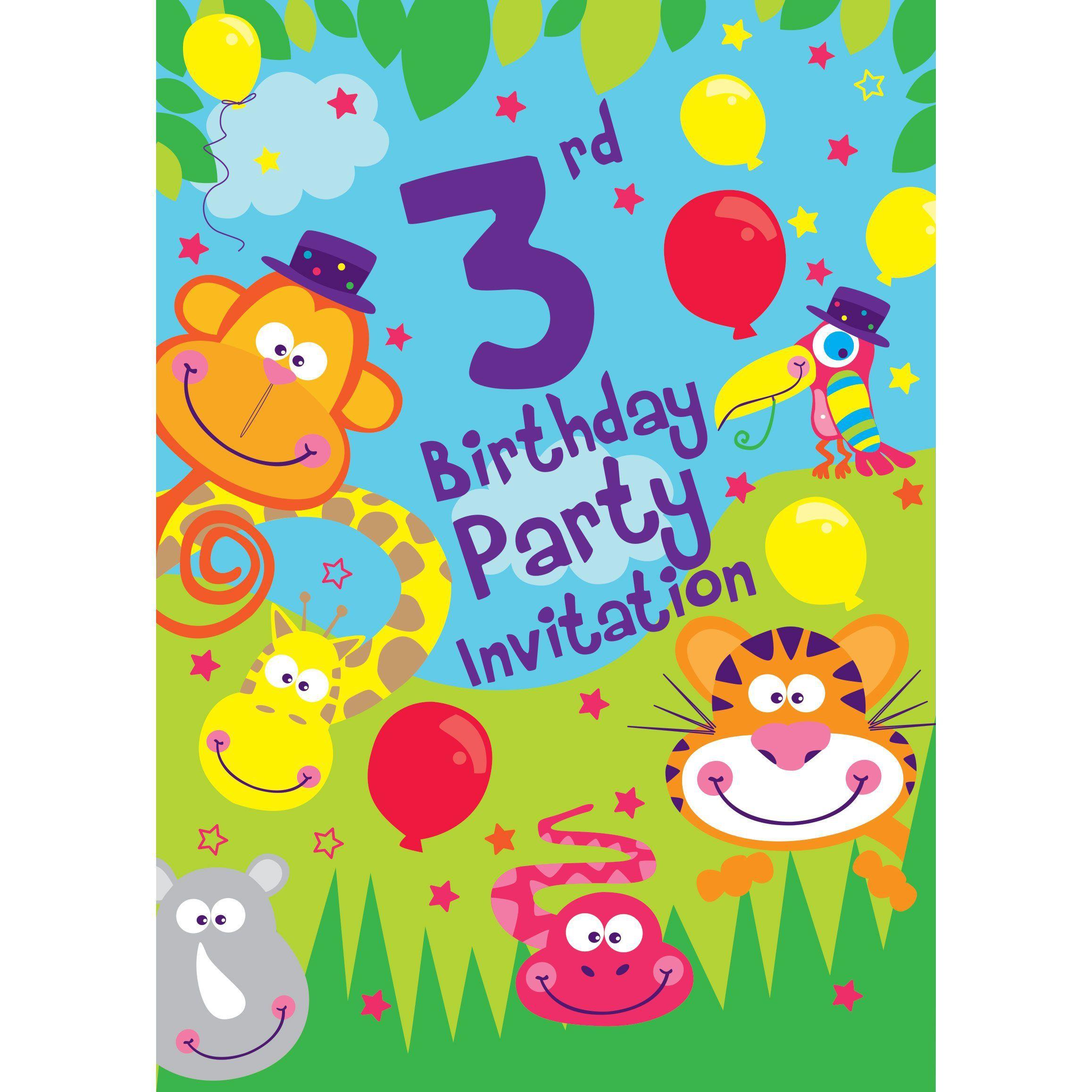Einladungskarten Einladung 3 Geburtstag Einladung Insparadies